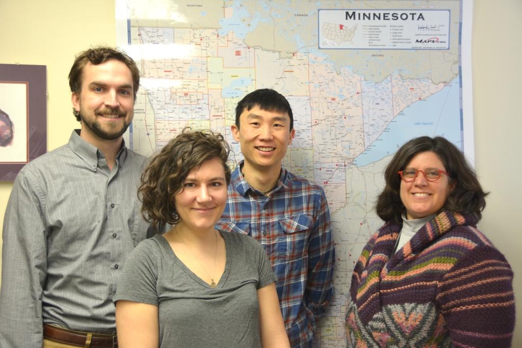 Leif Olson, Natasha Gallett, Logan Smestad and Emily Onello, MD
